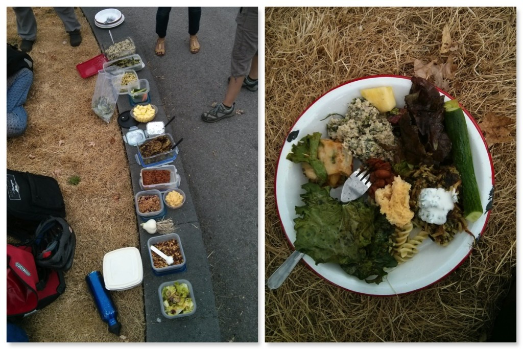 An ubber delicious potluck with Fresh Roots and SOYL staff - all aboard the food train!