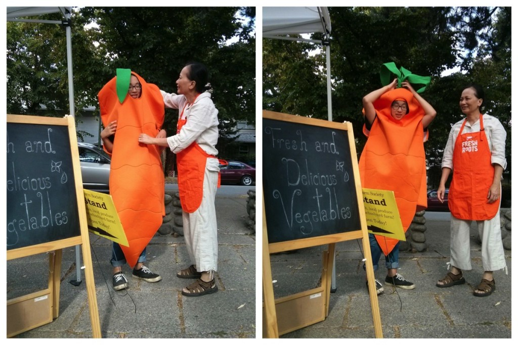 Michelle the carrot and volunteer